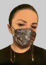 Dekorative Gesichtsmaske schwarz mit Strasssteinen